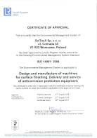 ISO 9001:2015 - Certificate of Approval