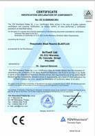 TÜV Certificate of conformity 2006/42/CE; 2004/108/CE – BLASTLUX