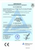TÜV Certificate of conformity 2006/42/CE; 2004/108/CE - CABILUX