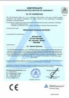 TÜV Certificate of conformity 2006/42/CE; 2004/108/CE - RATIOJET