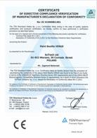 TÜV Certificate of conformity 2006/42/CE; 2004/108/CE – VENUS