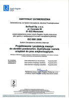 ISO 9001:2015 -  – Certyfikat zatwierdzenia
