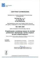 ISO 14001:2015 - Certyfikat zatwierdzenia