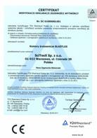 TÜV Certyfikat weryfikacji Deklaracji Zgodności 2006/42/CE; 2004/108/WE – BLASTLUX