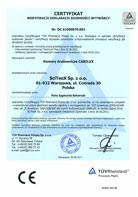 TÜV Certyfikat weryfikacji Deklaracji Zgodności 2006/42/CE; 2004/108/WE – CABILUX