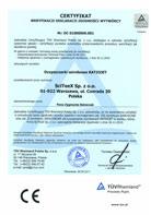 TÜV Certyfikat weryfikacji Deklaracji Zgodności 2006/42/CE; 2004/108/WE – RATIOJET