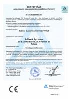 TÜV Certyfikat weryfikacji Deklaracji Zgodności 2006/42/CE; 2004/108/WE – VENUS